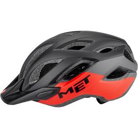 MET Crossover Casco, negro/rojo